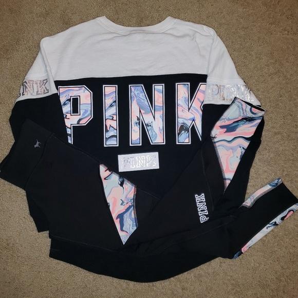 727af7299c0d1 PINK Victoria's Secret Pants | Pink Outfit With Reversible Leggings ...